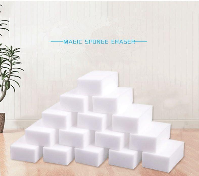 100 stücke Magische Schwamm weiße Melamin-Radiergummi für Tastatur Auto Küche Badezimmerreinigung sauber hohe Wahrheit 10x6x2cm EWE1892