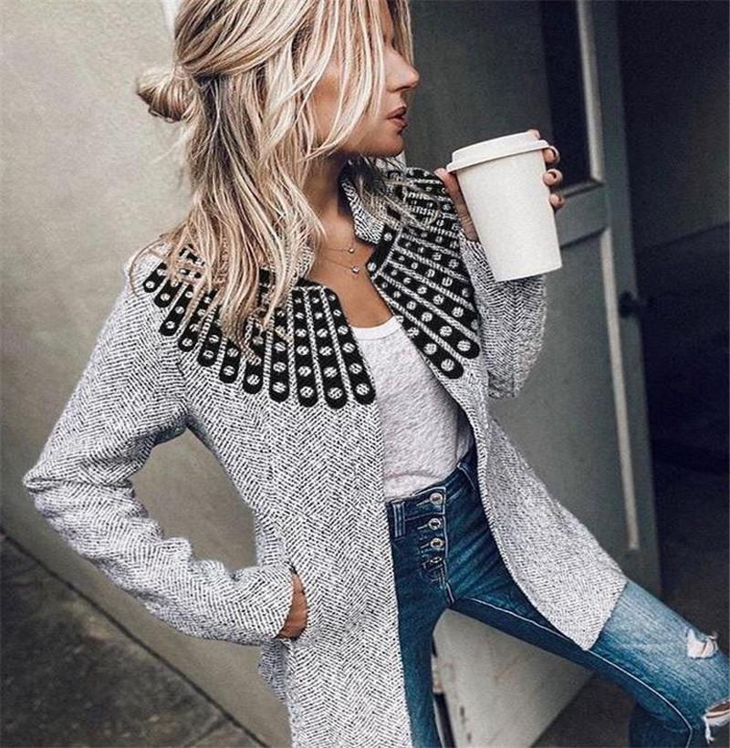Women's Suits & Blazers High Collar Personality Trend Versatile Woolen Suit Jacket Coats Fashionable Business Leisure Slim Fit Warm Wool Spr