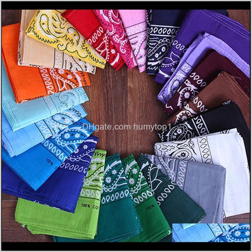 Wholesale Unisex Cotton Mixed Color Cycling Sports Bandana Square Neck Wristband Handkerchief Amtbt Xn9Vo