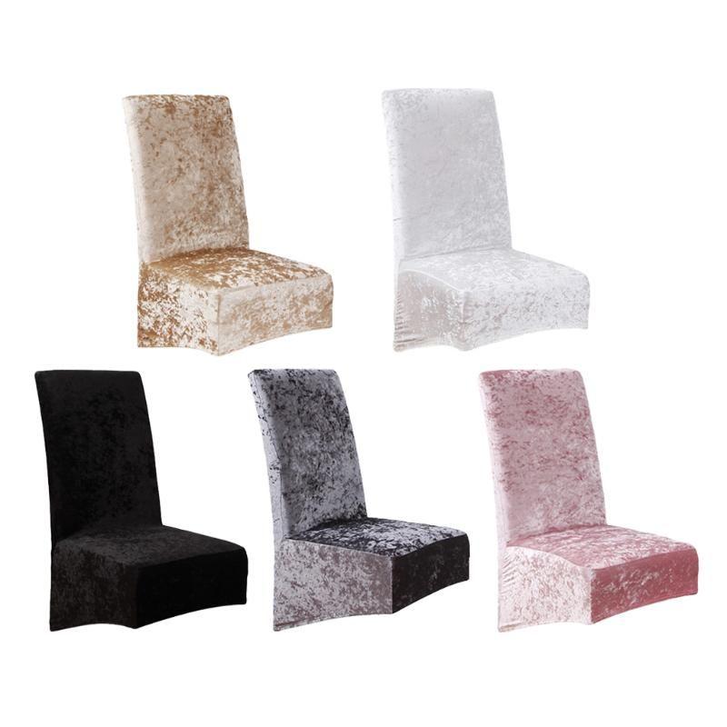 Velvet Stretch Esszimmerstuhl deckt weiche abnehmbare Slipcovers ab