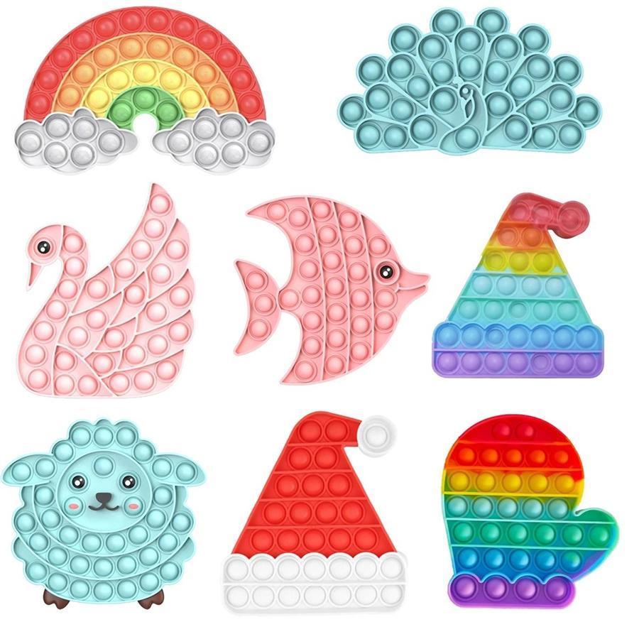 Erstaunlich 500 Arten Zappeln Spielzeug Anti-Stress Weiche Sensorische Geschenke Wiederverwendbare Squeeze Office Birthday Toys Erwachsene Kinder Spezielle Bedürfnisse Brettspiele Großhandel
