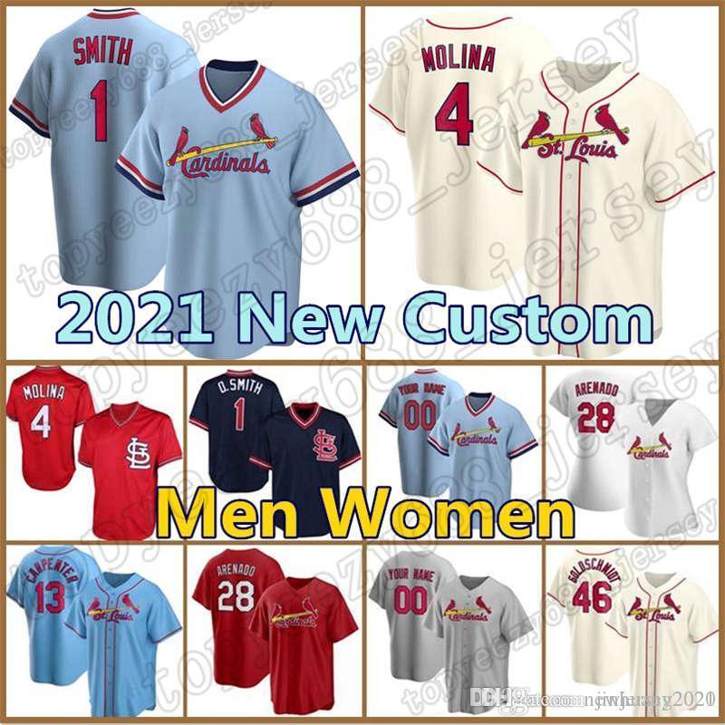 Cardeal Jersey Custom 28 Nolan Arenado Baseball 4 Yadier Molina 46 Paul Goldschmidt 1 Ozzie Smith 13 Matt Carpenter St LouisMunoz.