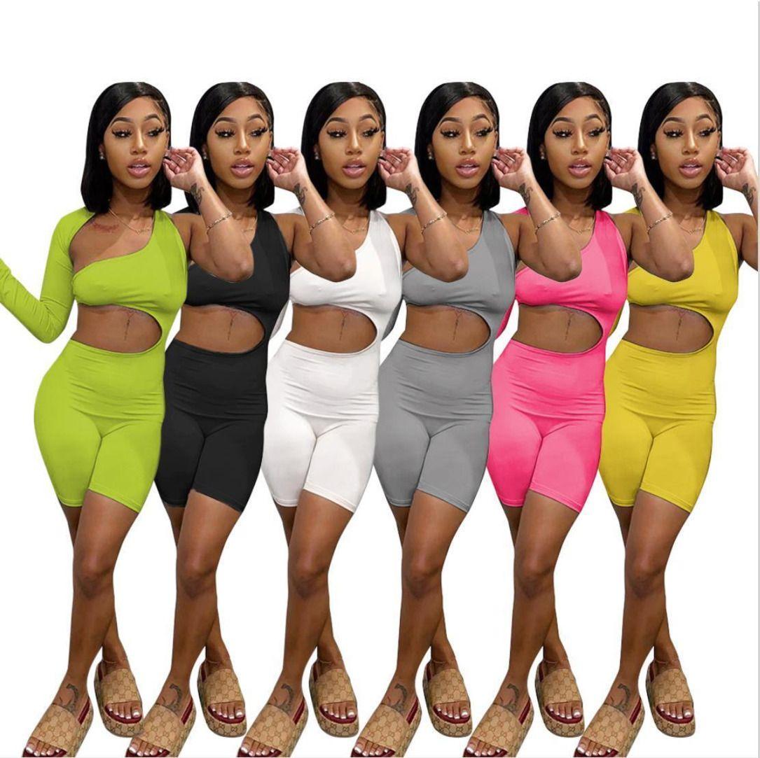 4 стиль летних сексуальных женщин комбинезон комбинезон колокольчики черные одно плечо брюки трексуиты боди повседневная бежевая ночная клубная одежда 1045
