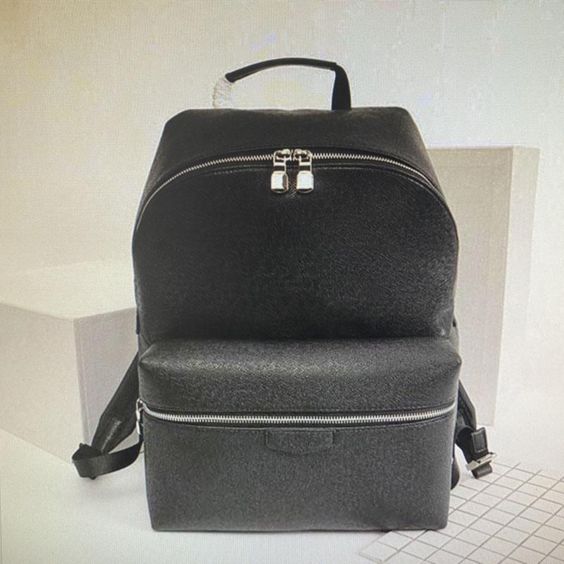 M30230 ديسكفري ظهره مصممين مصممين حقائب الرجال أزياء جلد طبيعي السفر حزمة الظهر الكلاسيكية الرياضة في الهواء الطلق المشي مدرسة الذكور أكتاف حزم