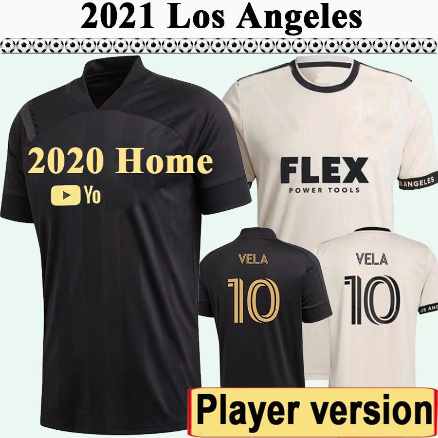 2021 LAFC ROSSI VELA MENS JOUEUR VERSION VERSION FC SOCCER JERSEYS LOS ANGELES HOME NOIRE CHEMISE DE FOOTBALLES DE FOOTBALLES Bénédiction Diomande Courts Uniformes