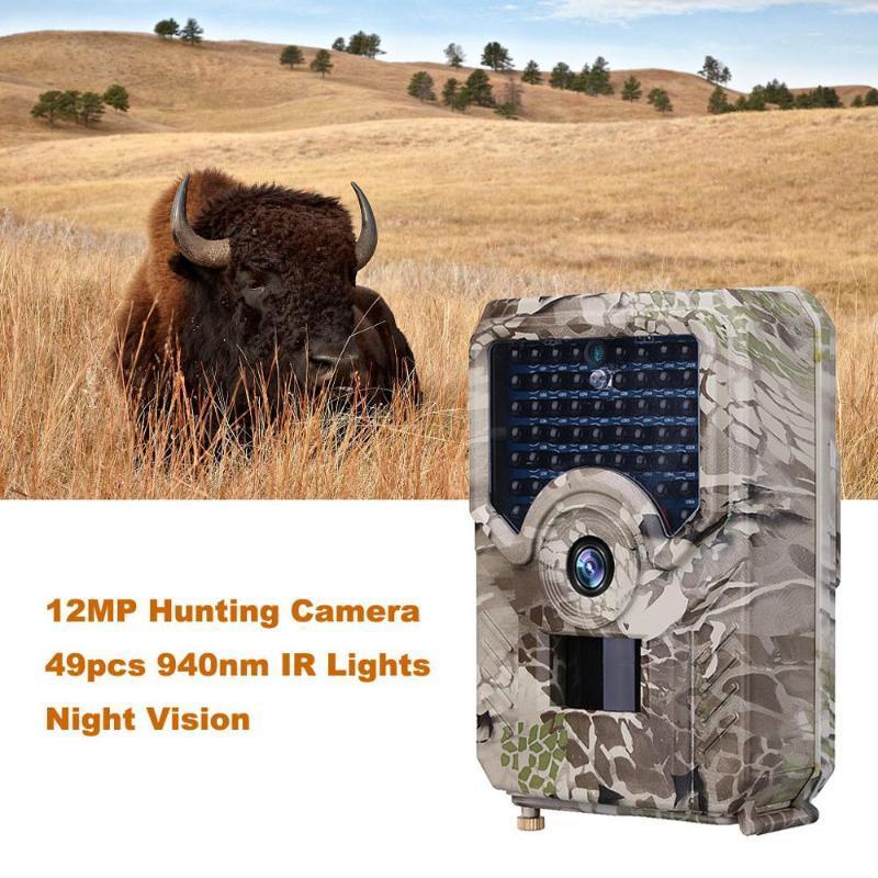 사냥 카메라 49pcs GSM 12MP 1080P PO 트랩 야간 투시경 야생 동물 적외선 흔적 카메라 사냥