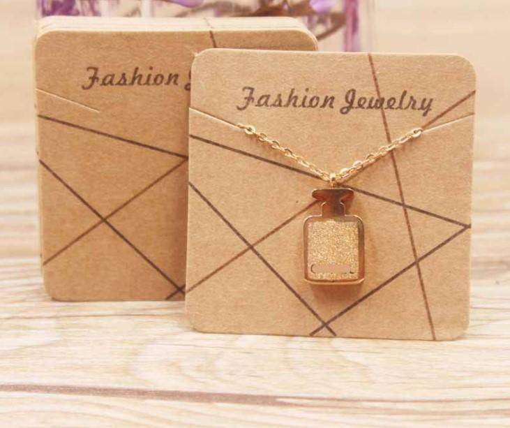 2021 Exquisite Necklace card square 5 * 5cm 300g paper cards printing various patterns choose jewelry 5*5cm 009