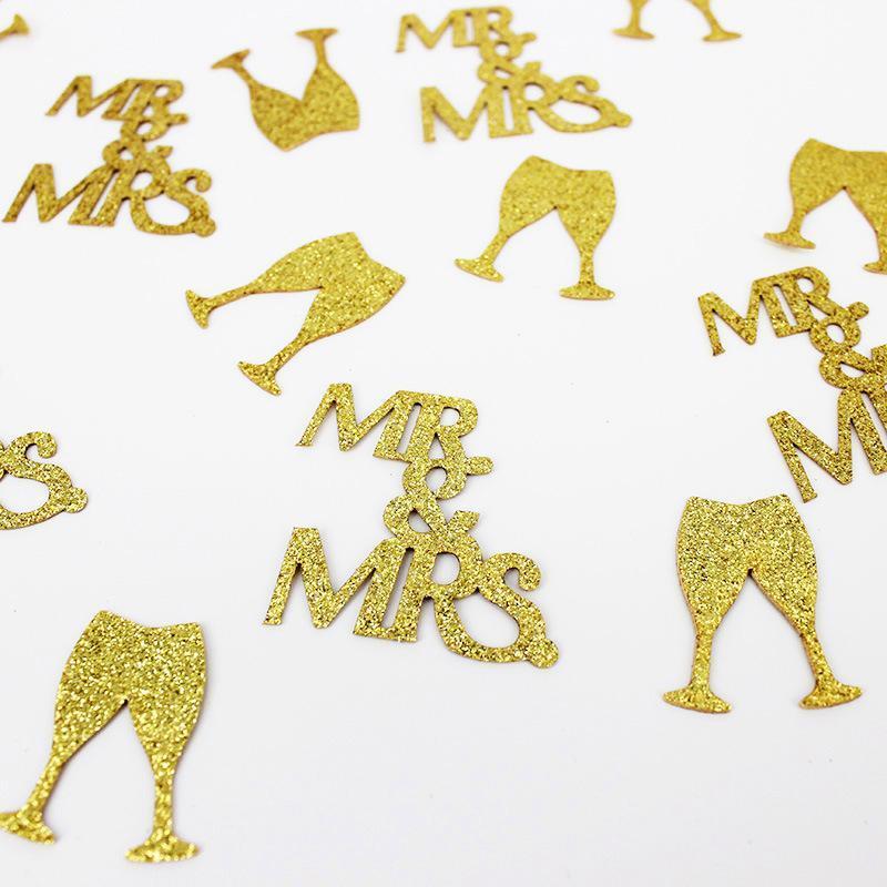 MRMRS Confeti Glitter Bridegroom Novia Decoración de Boda Mesa Bachelorette Party Lanzar Diamond Ring Regalo