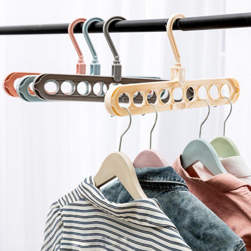 جديد ملابس شماعات كليب المنظم خزانة المنظم مساحة توفير متعدد المنافذ السحر شماعات البلاستيك وشاح كابيد الشماعات للملابس EWD7656