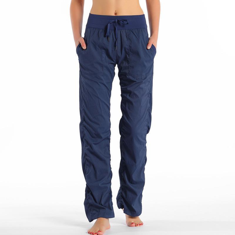 Pantalones para mujer Capris de alta calidad Entrenamiento suelto de la danza de la danza de los deportes de la cintura para las mujeres del gimnasio casual.