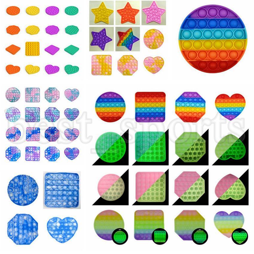 61 Arten Push Bubble Zappeln Sinnes Spielzeug Autismus Sonderanforderungen Stress Reliever Spielzeug Erwachsene Kinder Glow Glühen Funny Antistress Zappeln Spielzeug Cyz3199