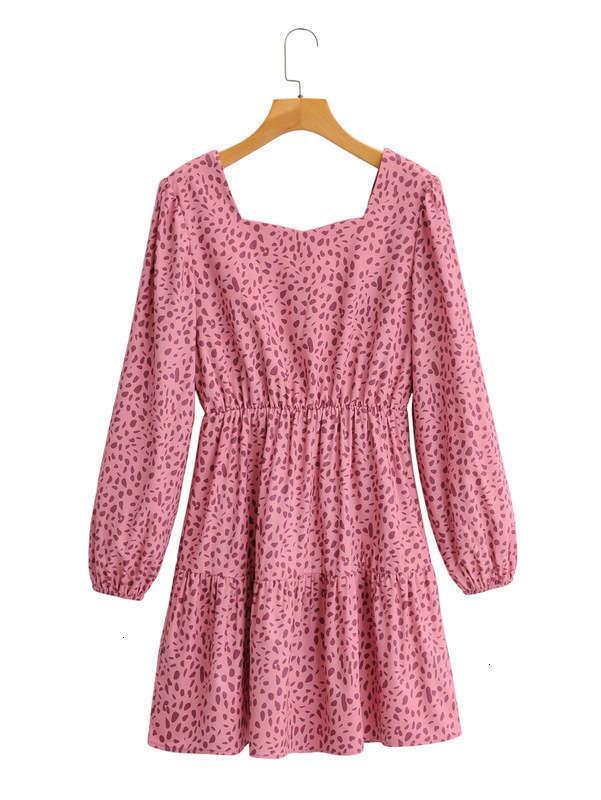 Kleider Herbst Mode Casual Spot vielseitiges langes Ärmelkleid