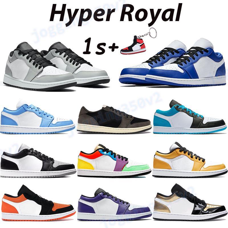 Classico 1 1s Scarpe da basket Basket da uomo Sneakers Hyper Royal Travis Scotts Scotts Luce Fumo Greyshadow Court UNC Purple Multi Color Laser Blue Trainer