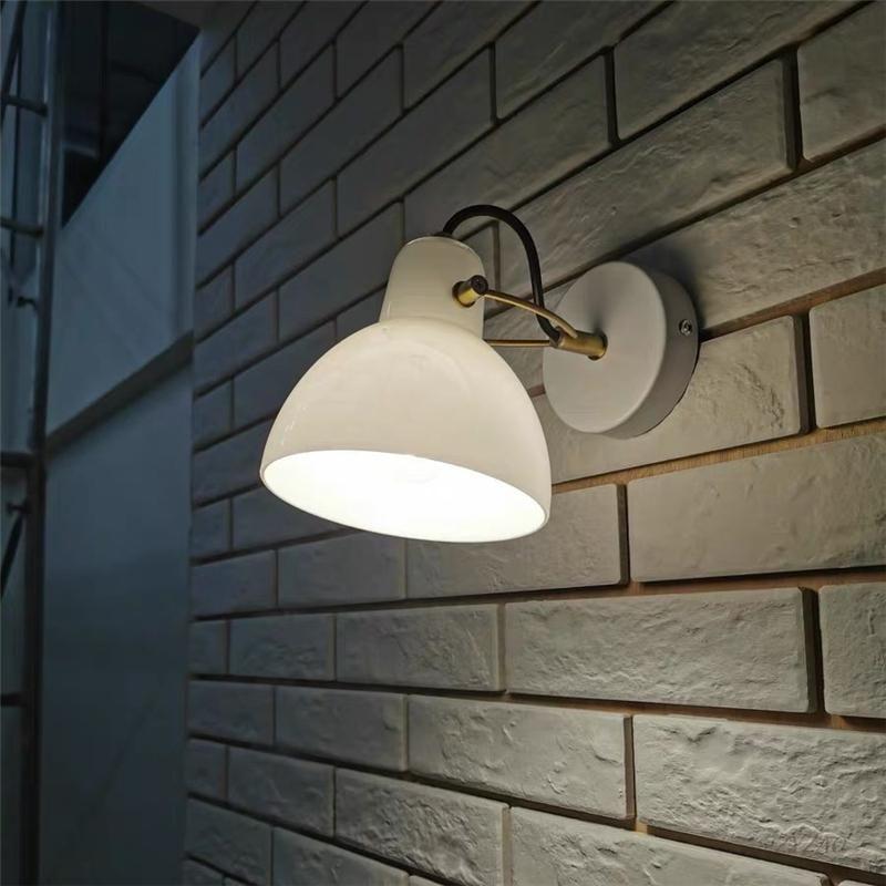 Einfache Schlafzimmer Nachttischlampe Modern Nordic Designer El Projekt Wandleuchte Kreativ drehbar im Freien