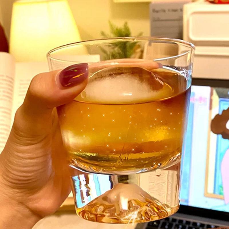 Cam Kupalar Yaratıcı Fujiyama Süt Kahve Fincanı Drinkware Çay Mutfak Bar İçecekler Düğün Hediyesi 300ml / 350 ml