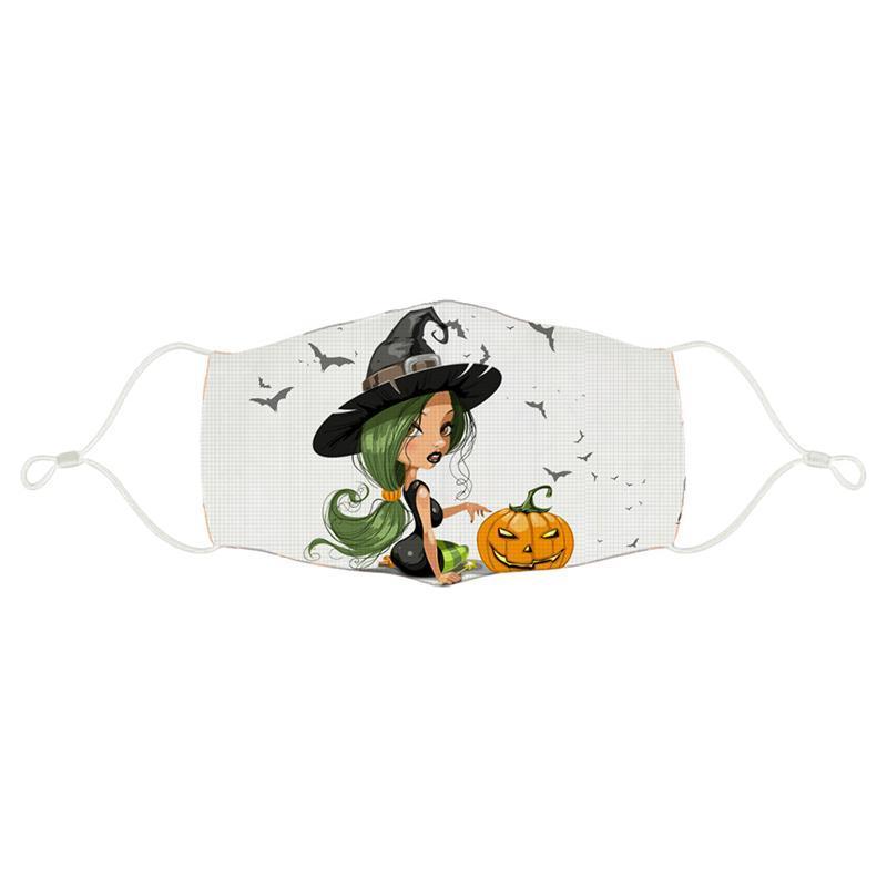 2021 Halloween Kürbis 3D-gedruckte Kinderdesigner Gesichtsmaske Verstellbare Schutzmaske Staub und Haze Atmungsaktiv Mode Gesichtsmasken