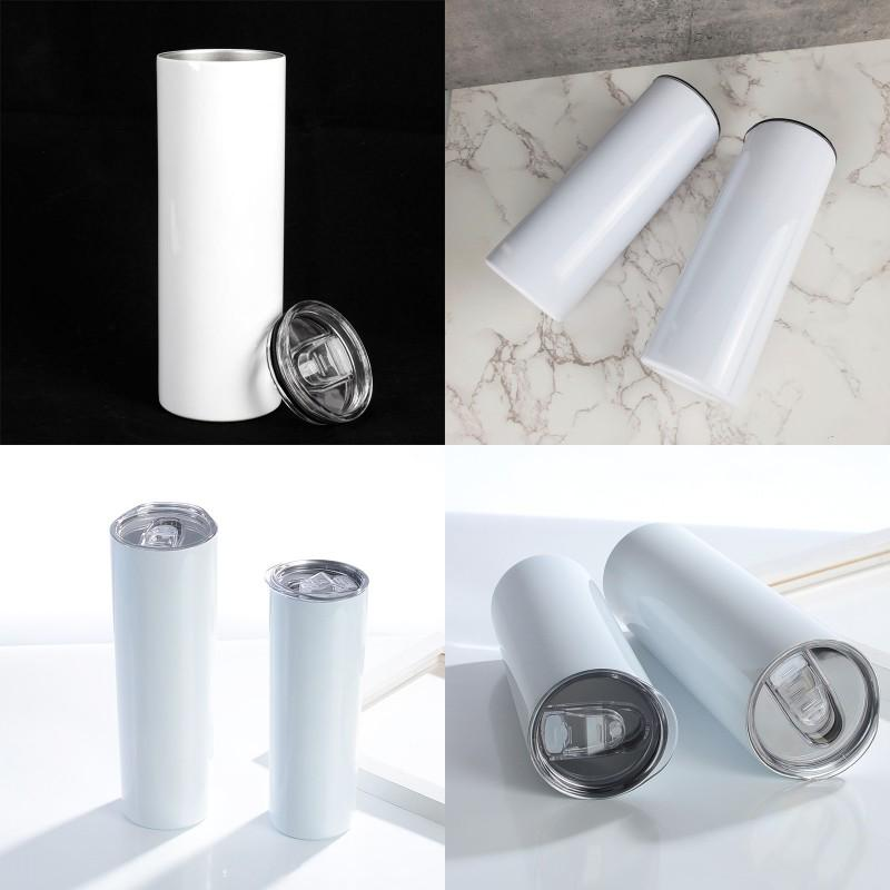 30oz Sublimations Blanks straight cup Stainless Steel lnsulated Sublimation Tumblers water bottle with Lid Car Cups mugs