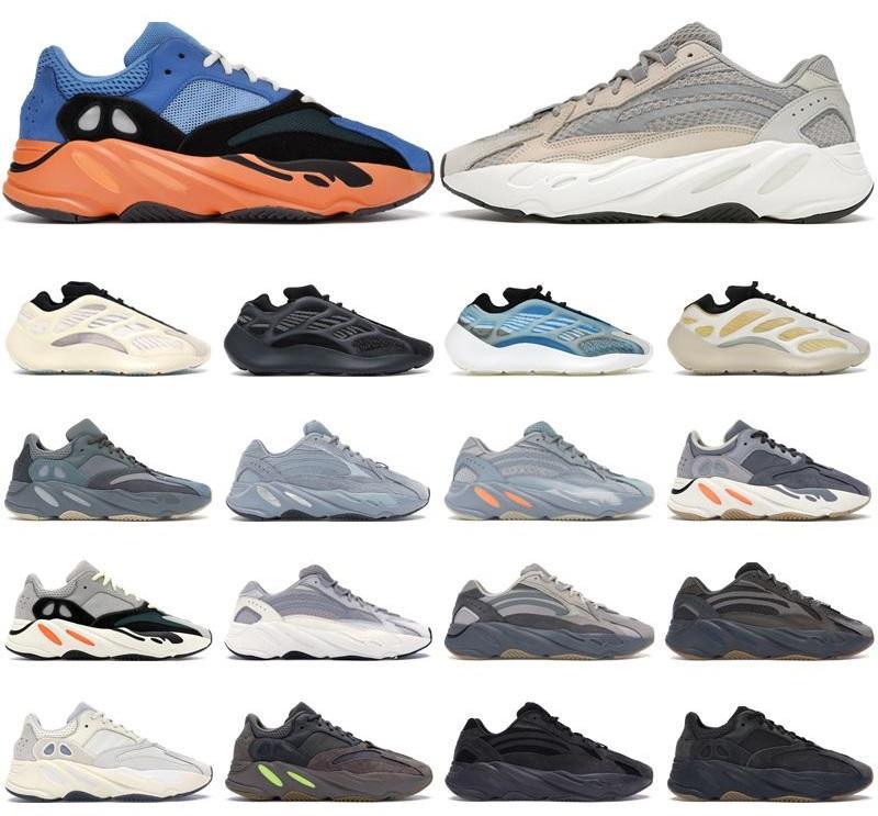 2021 Kanye 700 zapatillas para hombre entrenadores para hombre crema azul brillante Azael Alvah Safflor Vanta Imán Magnet Sólido Gray Zapatillas deportivas al aire libre
