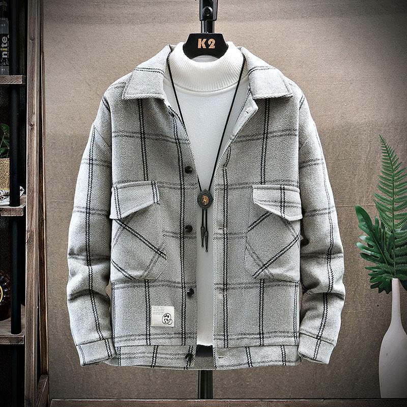 الرجال الشتاء الدافئ سترة القطن سميكة معطف منقوشة الشارع الشهير عارضة الكاكي باركر للرجال أسفل ستر