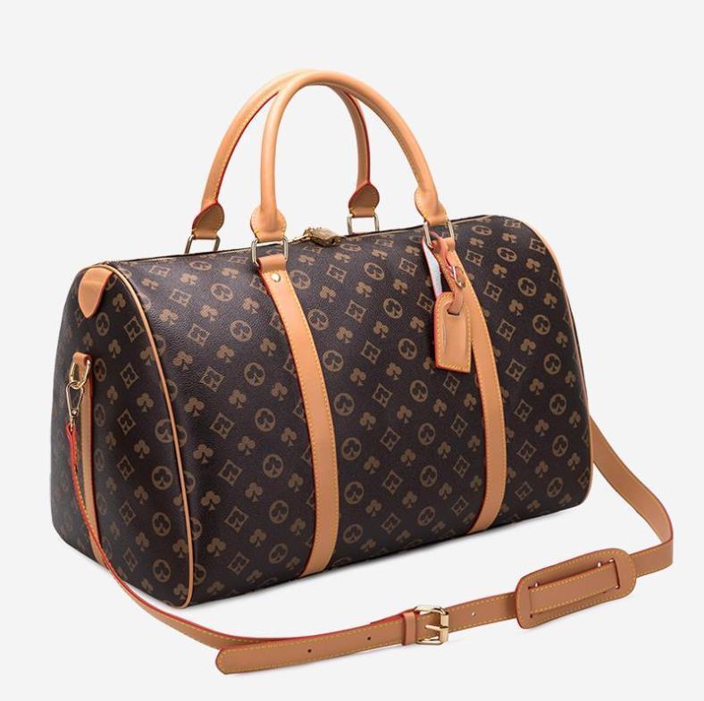 2021 Hommes Sacs de voyage Vintage Totes pour femmes Grand Capacité SuitCases Sacs à main Sac à bagages à la main Bagage Duffle