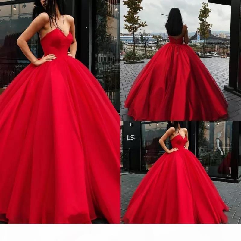 Charming rotes Schatz Ballkleid Prom Kleider ärmellos langer bodenlangen Satin elegantes Abendkleid großzügiger formeller Anlass