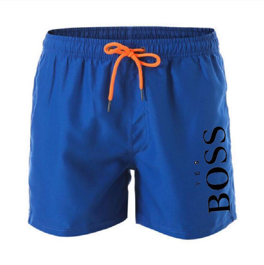 2021 Summer Casual Cotton Fashion Style Stampa Brand Stampa pantaloncini da maschio coulisse in vita Elastico Pantaloni Beach Spiaggia 13 Colore Bianco nero S-4XL