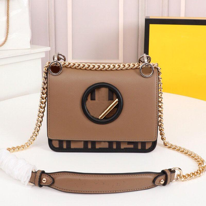 Black Leather Bag Women Handbag Purse Crossbody Bags Hand Tote Genuine Leathers Fashion F letter Slide-Chain Shoulder Strap Magnetic Clasp Handbags