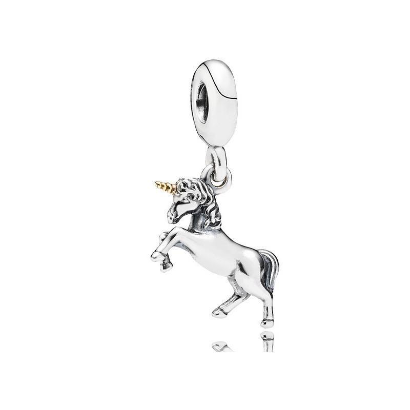 Unicorn baumeln einzigartige charme perlen groß loch mode frauen schmuck europäischen stil für diy armband halskette 44 w2