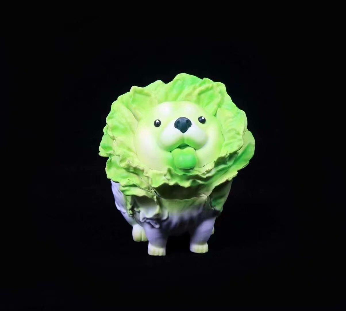 Cartoon Cabbage Dog Hand Office Nuoan Same Style Cabbage Dog Model Decoration Birthday Gift Souvenir Boxed
