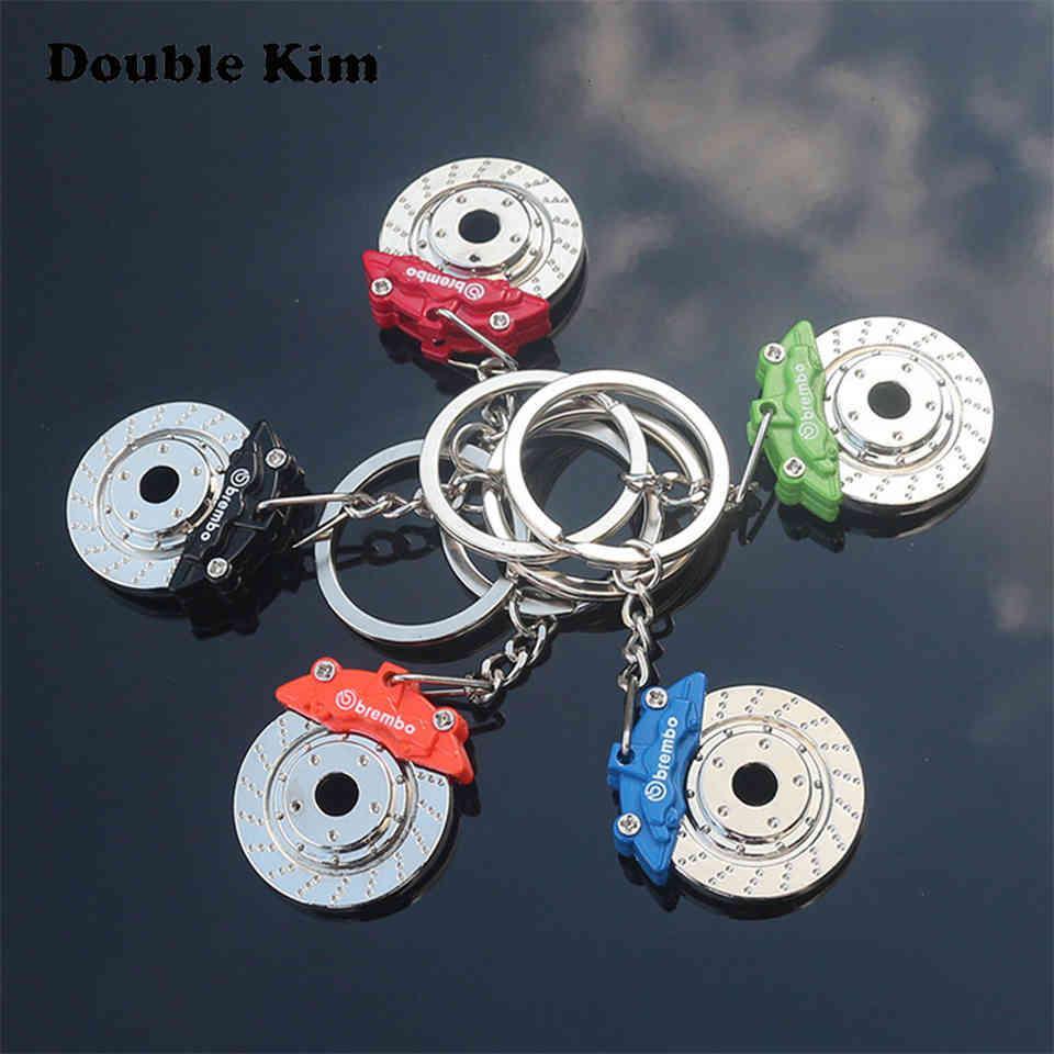 Kreative Rad-Bremssattel Keychain-Auto-Scheibenbremse Edelstahl Männer und Frauen Taille Schlüssel Ringkette Anhänger