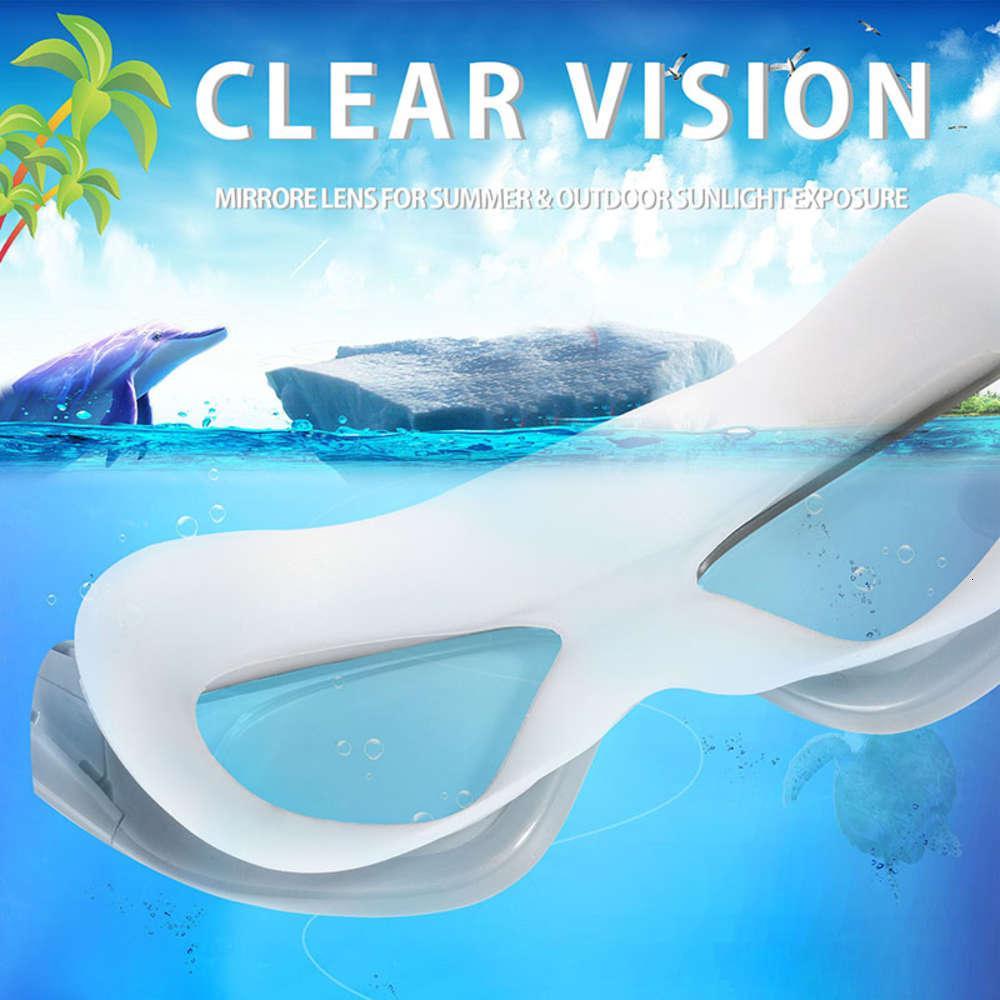 Goggles Professionelle Schwimmbrille Einstellbare Pool Wasserdichte Silikon-Elektroplant-Schwimmen Brillen für Kinder Erwachsene Optik