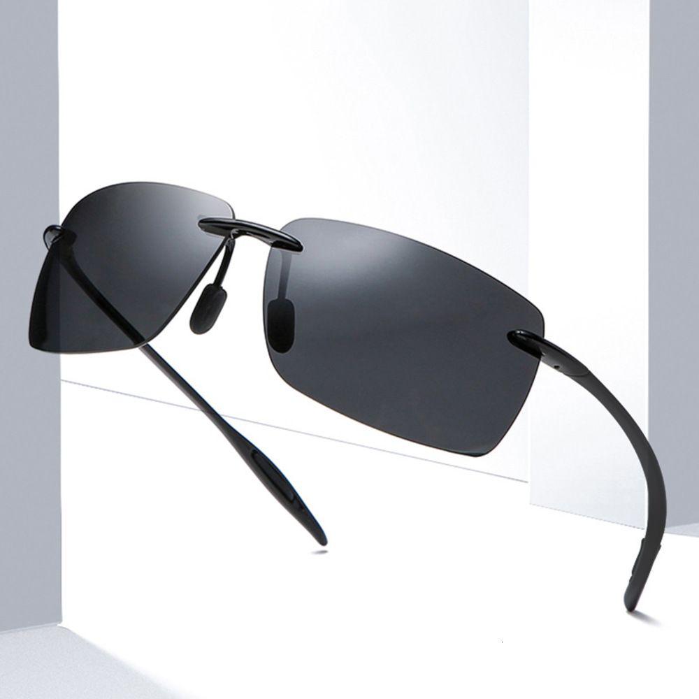Homens polarizados Sunglass New Framels Motorista Quadrado Sunglass Outdoor Shade Tendy Copo