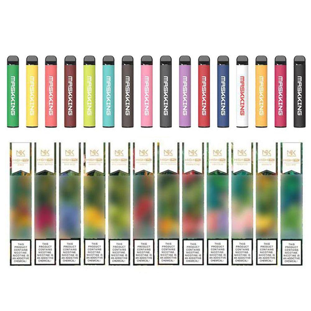 Maskking High Pro-Einweg-Pod-Gerät E-Zigarette Upgrade Russsian / English-Version Vape Pen 1000 Puffs Patronen PK Air Bar Max Bang XXL