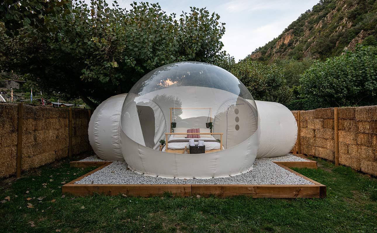 4 متر غرف مزدوجة خيمة مجانية منفاخ فقاعة فندق التخييم خيمة فقاعة منزل للحديقة عرض خيمة الزفاف سعر المصنع