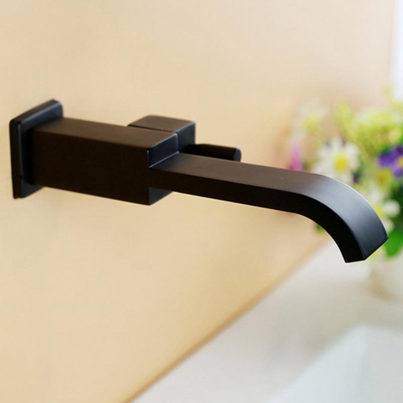 G1/2Inch Bathroom Basin Faucet Bathtub Waterfall For Garden Spout Vessel Sink Mop Pool Tap Home -Black Faucets
