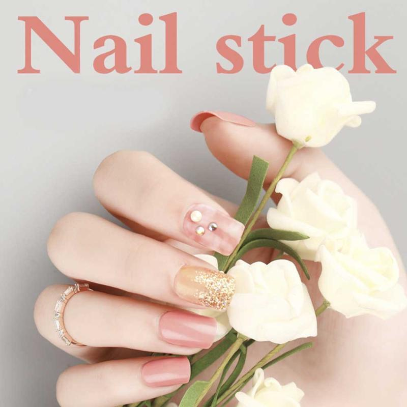 30pcs Flash Powder Detachable Gauze Box-packed False Nails Full Nail Art Tips Beauty Artificial