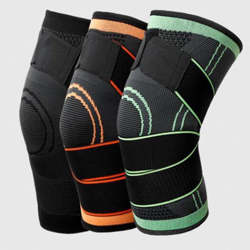 الألعاب الرياضية ضغط منصات الركبة حزام عدم الانزلاق تنفس النايلون 3d الكوع