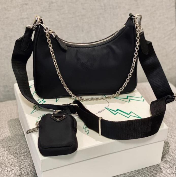 Alta Qualidade Designer Bolsas De Almoço Duffle Nylon Couro Famosas Handbags Senhora Crossbody Bag Carteira Hobo Bolsa Bolsa Moda Estilo 3 Piesc em um