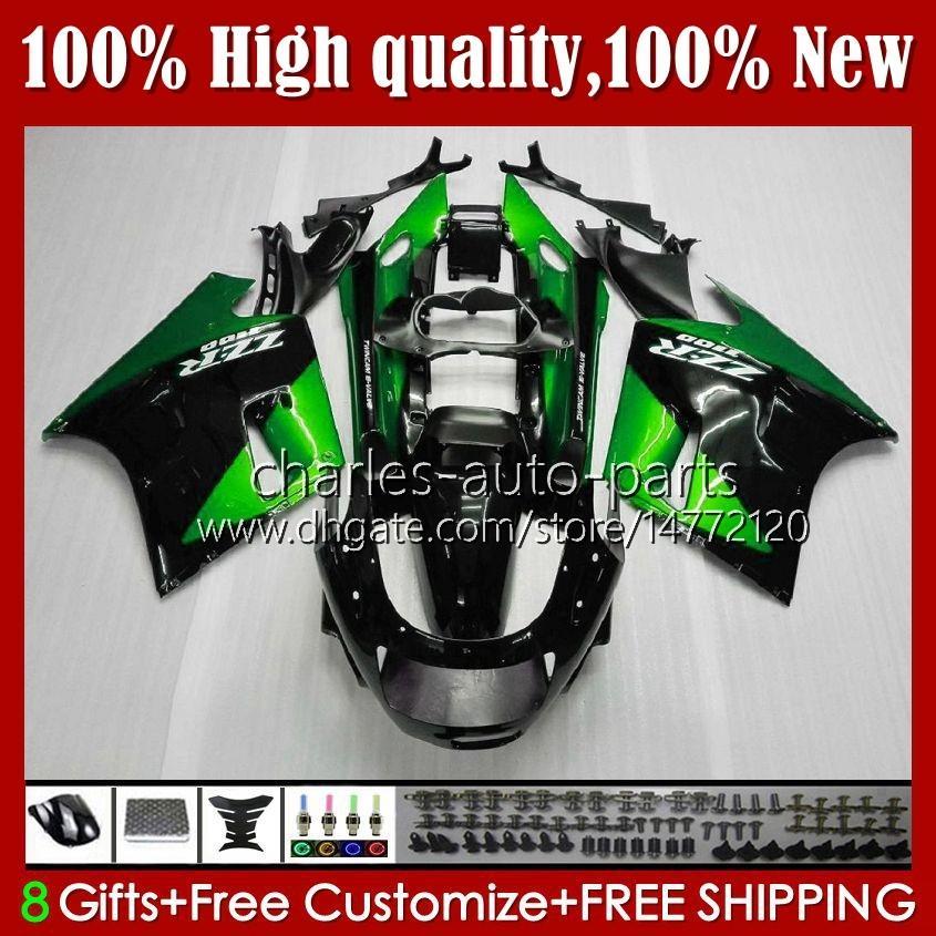 OEM Body For KAWASAKI NINJA ZZR 1100 CC ZX11 R ZZR-1100 metal green new 96 97 98 99 00 01 31HC.79 ZX-11R ZX11R ZX 11 R 11R ZX-11 R ZZR1100 1990 1991 1992 1993 1994 1995 Fairing Kit