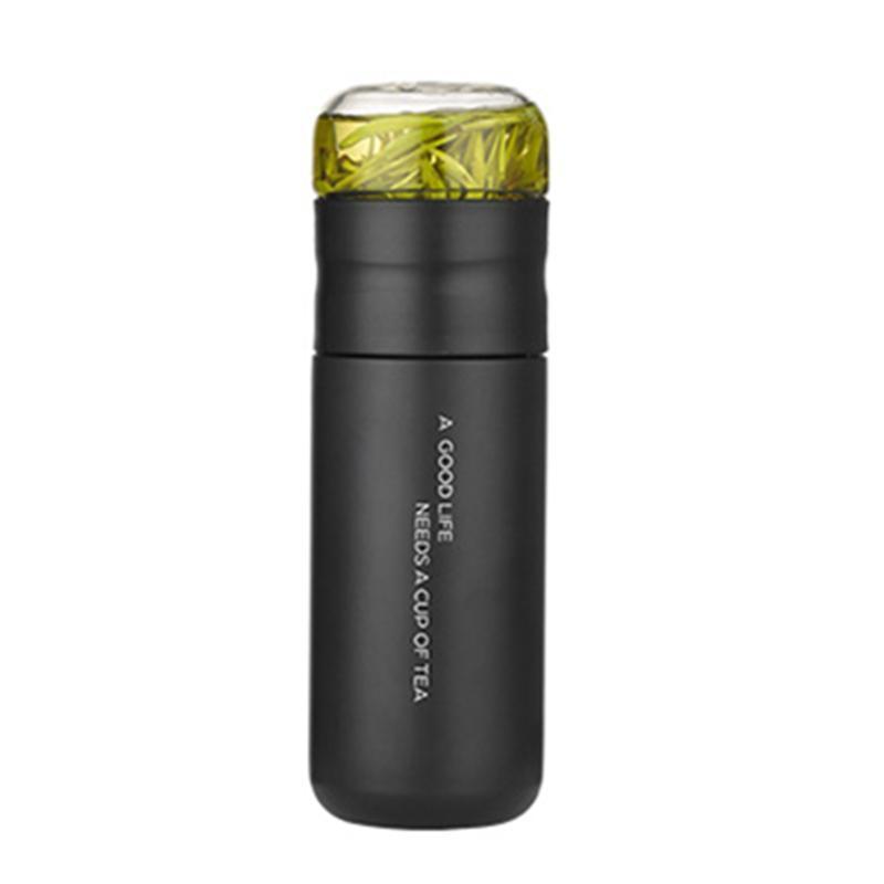 Bouteilles d'eau 2021 tasse isolée avec filtre en acier inoxydable bouteille de verre Infuser de verre sépare et 300 ml Dropship