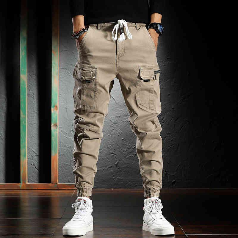 عالية الشارع مصمم الأزياء ركض الجينز الرجال الكاكي عارضة متعددة جيوب البضائع السراويل hombre فضفاضة صالح الهيب هوب الحريم السراويل