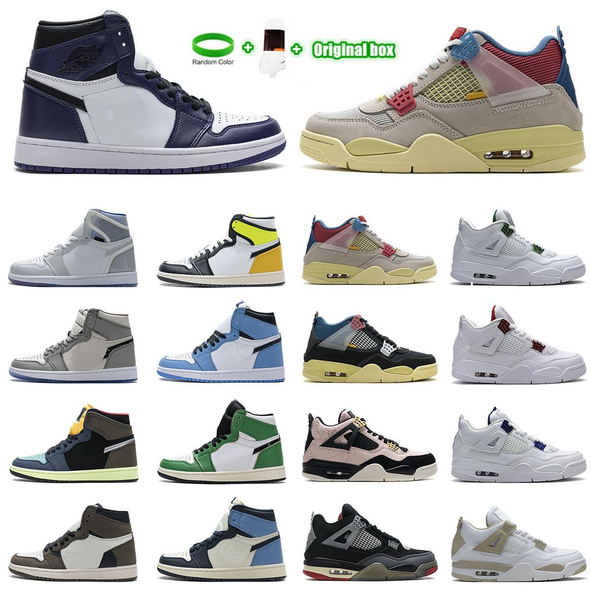Yelken Kara Kedi Bred 4 4s Ayakkabı Guava Buz Büküm Beyaz Çimento Ne Mens Basketbol Ayakkabıları 1 1 S Travis Scotts Obsidiyen UNC Korkusuz Kadınlar Sneakers