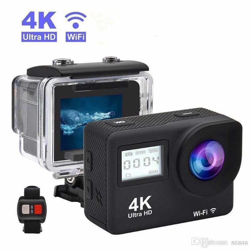 4K Sportkamera WiFi Fernbedienung Dual Screen 170D Unterwasser 30m Waterproof Helm Videoaufnahmen Exquisite Retail Box