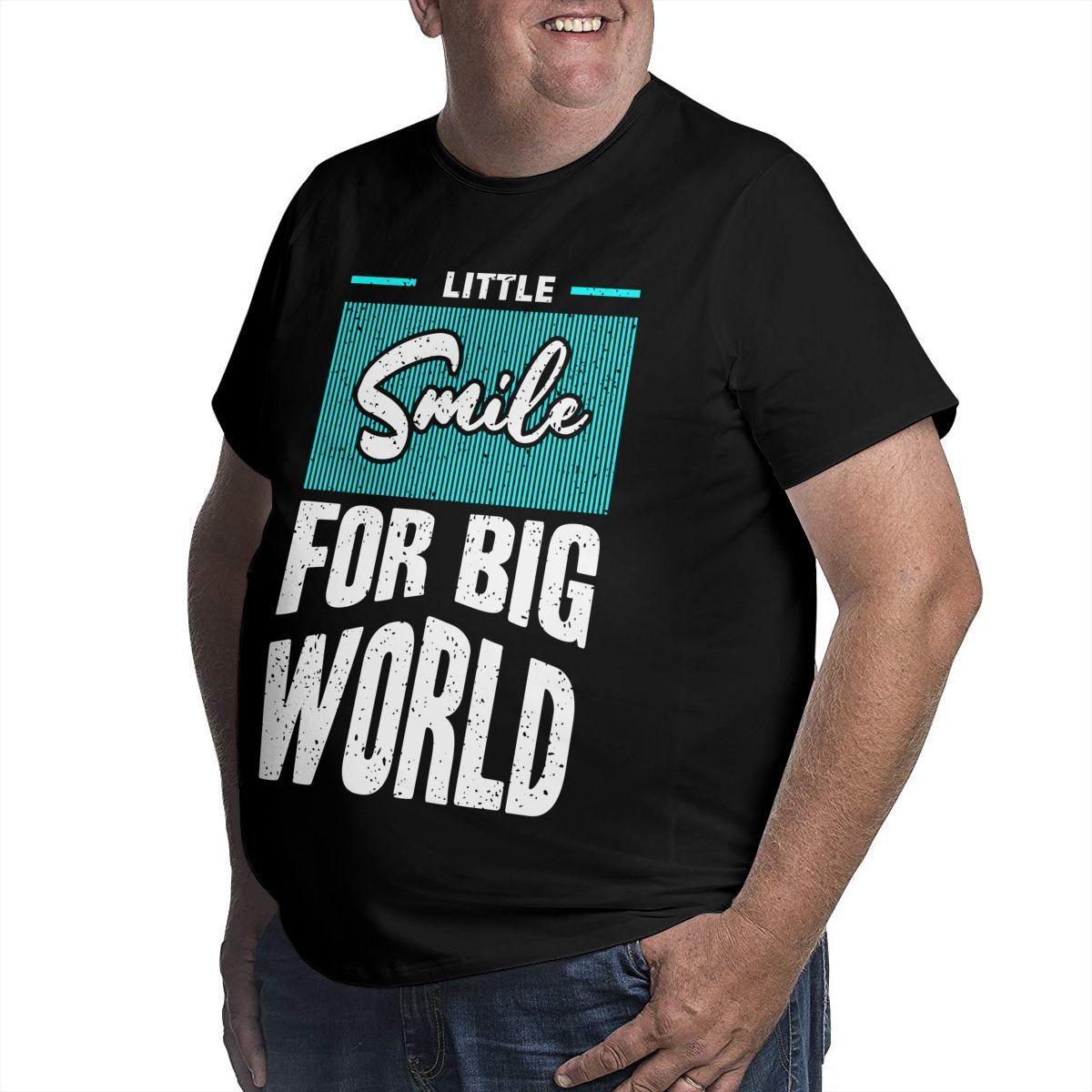동기 부여 그래픽 남성 대형 티셔츠 코튼 큰 키 큰 남자 플러스 사이즈 탑 티 참신 티셔츠 짧은 소매 여름