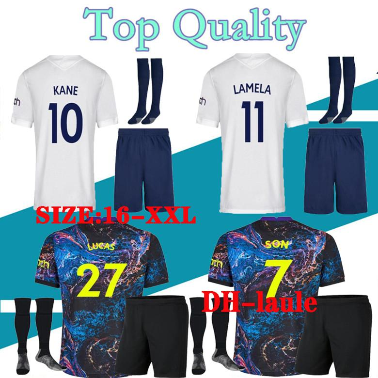 Top qualité thaïlande Tottenham KANE éperons Soccer Jersey 2020 2021 LAMELA BALE DELE SON maillot 19 20 kit de football chemise hommes et enfants KIT SET uniforme