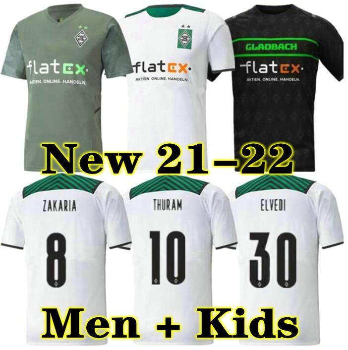 21 22 Mönchengladbach Soccer Jersey 120th Anniversary Gladbach 2021 2022 Monchengladbach Thuram Borussia كرة القدم قميص الكبار الرجال + أطفال كيت