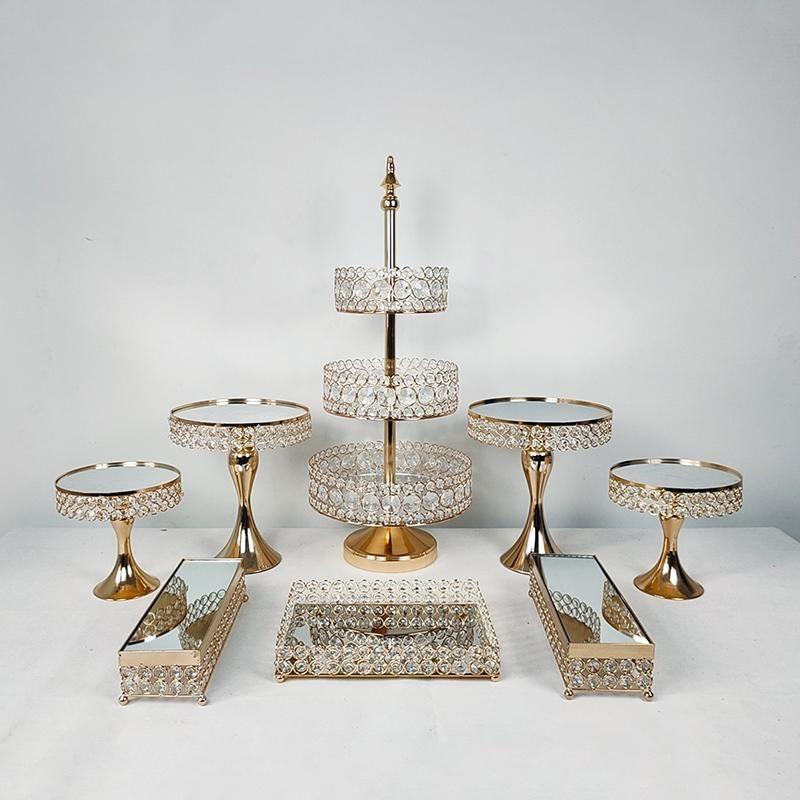 الذهب كب كيك صينية عيد ميلاد كعكة أدوات الديكورات المنزلية الحلوى بار الحلوى الجدول حزب المزود خبز أخرى