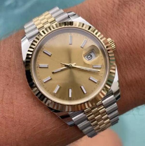 U1 regarder des montres automatiques mécaniques 41mm Date d'acier inoxydable SAPPHIRE SAPPHIRE SUPERMABLE SUPERMINES Boucle d'origine Mens WATC