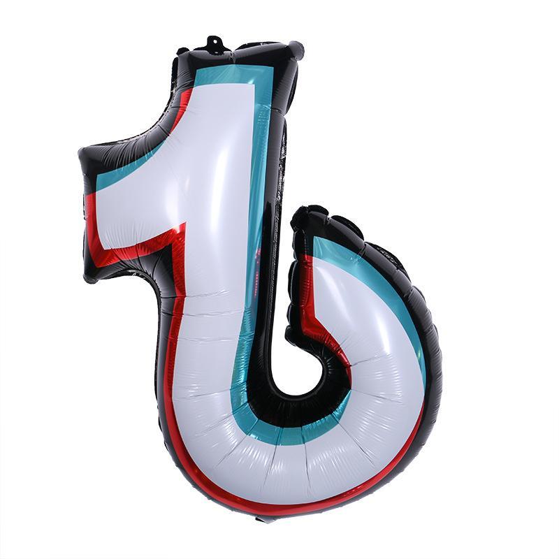 TIKTOK tema foglio palloncini da 30 pollici per bambini giocattoli per bambini festa di compleanno di Natale fai da te feste decorative decorazioni dal vivo decorate