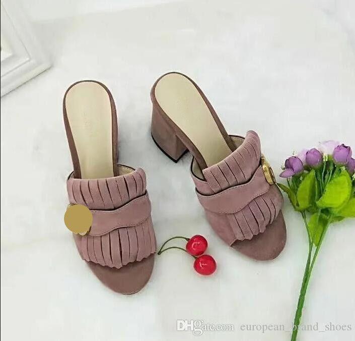 Moda femenina tacones tacones sandalias de cuero zapatos de playa zapato fiesta mujer peep toe zapatillas G5654